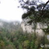 Панорама на спуске к Чинареву водопаду