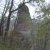 Скальные останцы хребта Гуам по дороге к поселку Мезмай